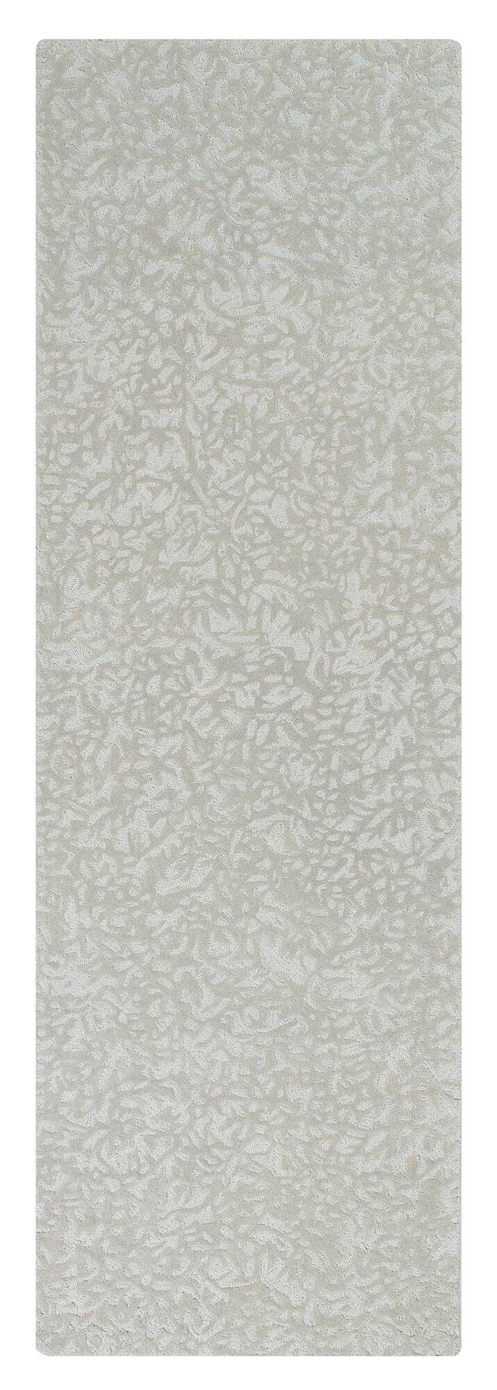 Crackle Hand-Tufted Pewter Area Rug Rug Size: Rectangle 5' x 8'