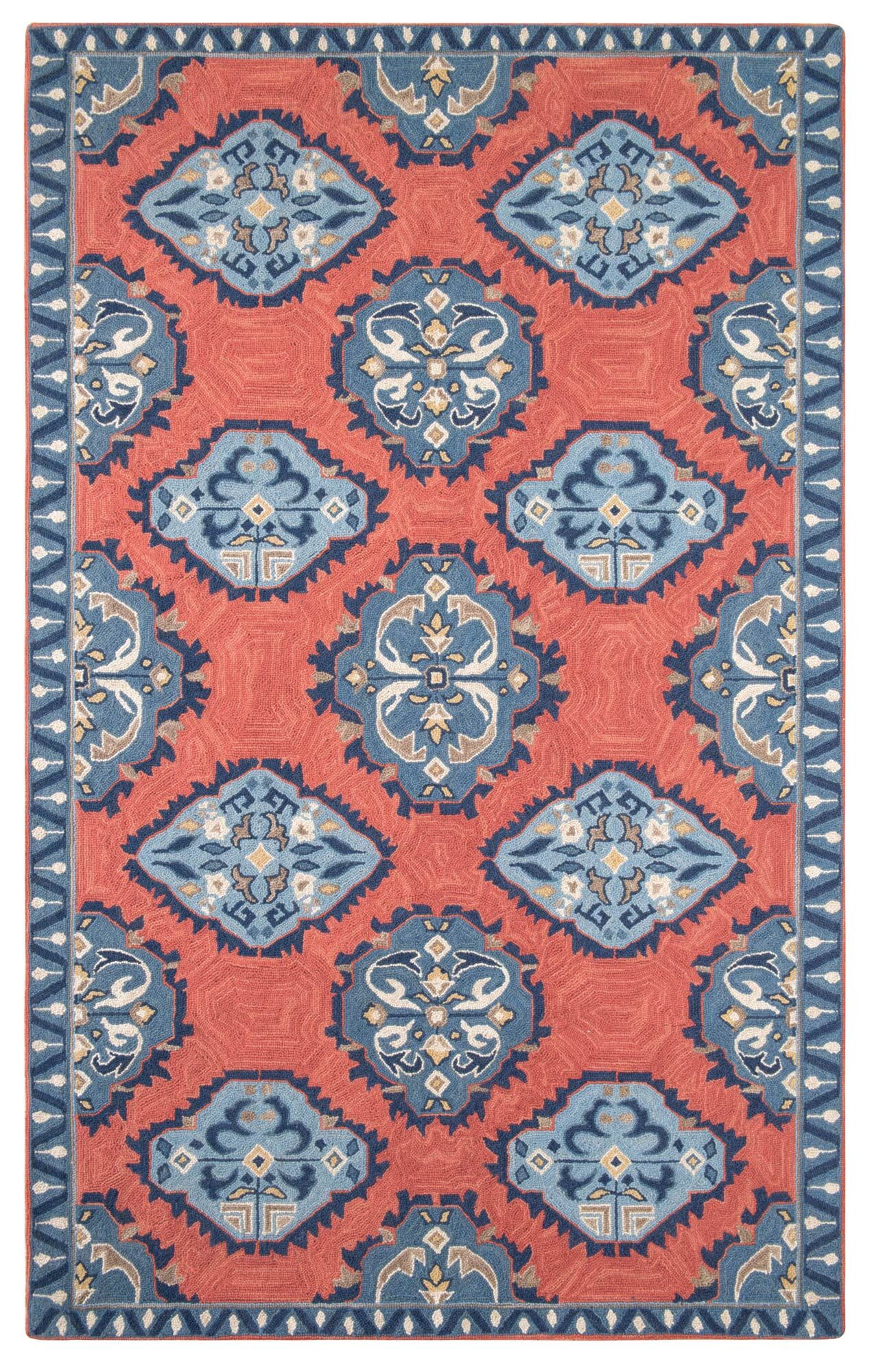 Old Glory Hand Hooked Wool Red/Blue Area Rug Rug Size: 4' x 6'