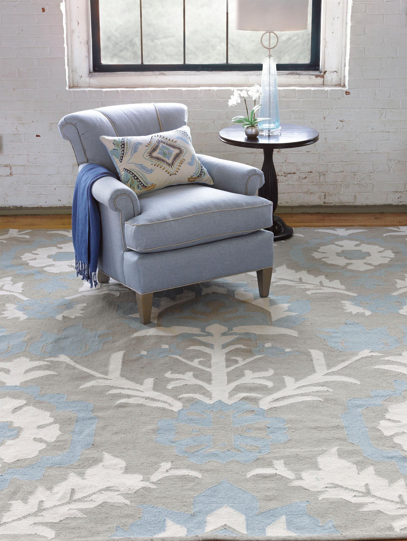Arabelle Hand Woven Blue Mist Indoor/Outdoor Area Rug Rug Size: 2' x 3'