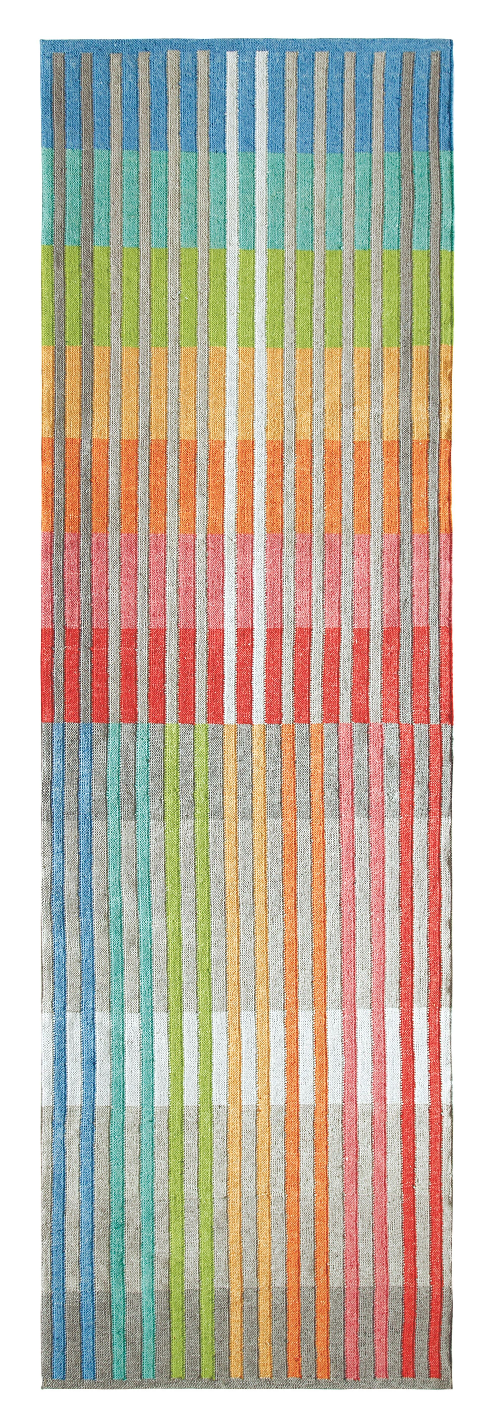 Chromatic Plaid Hand Woven Red/Blue Indoor/Outdoor Area Rug Rug Size: Runner 2'6