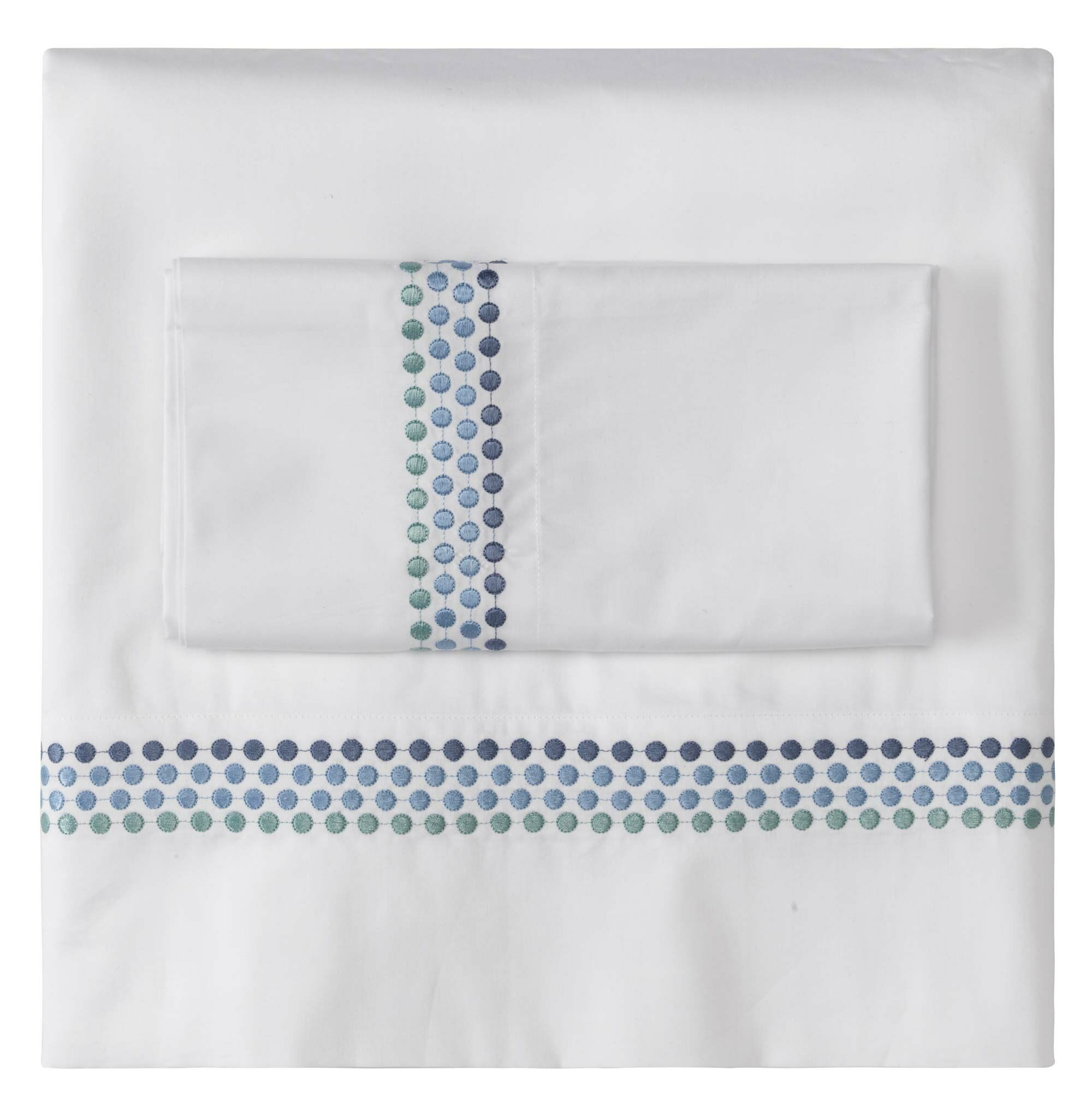Jewels Pillow Case Size: King, Color: Blue