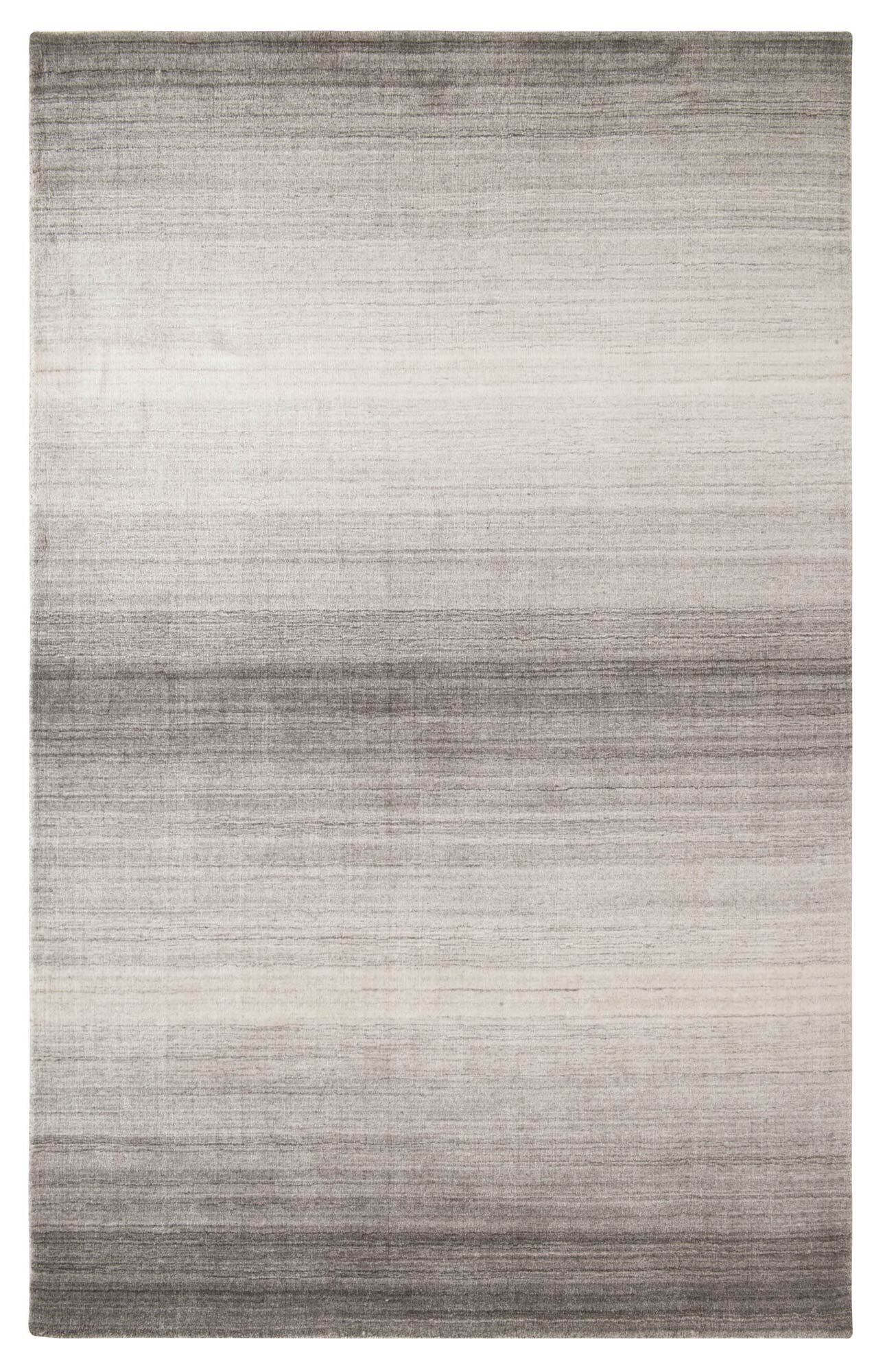 Shadow Hand-Woven Pewter Area Rug Rug Size: 3' x 5'