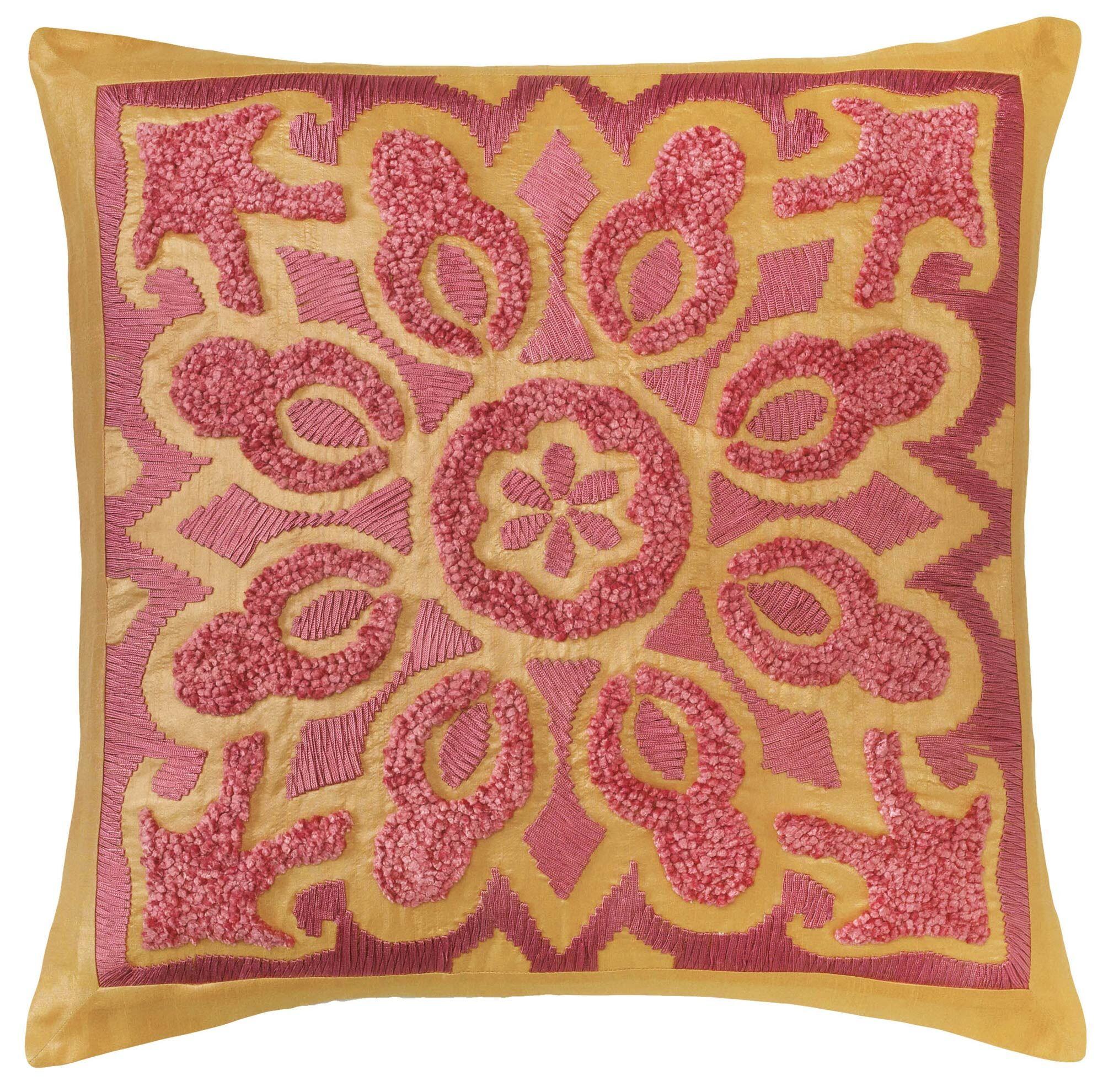 Cassandra Throw Pillow Color: Bittersweet