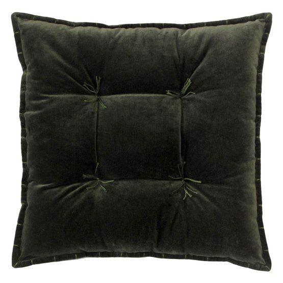 Talia Velvet Throw Pillow Color: Loden