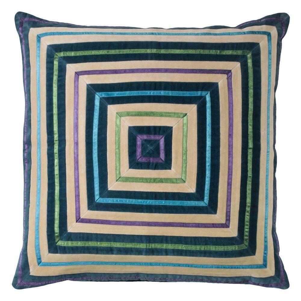 Zoe Throw Pillow Color: Teal