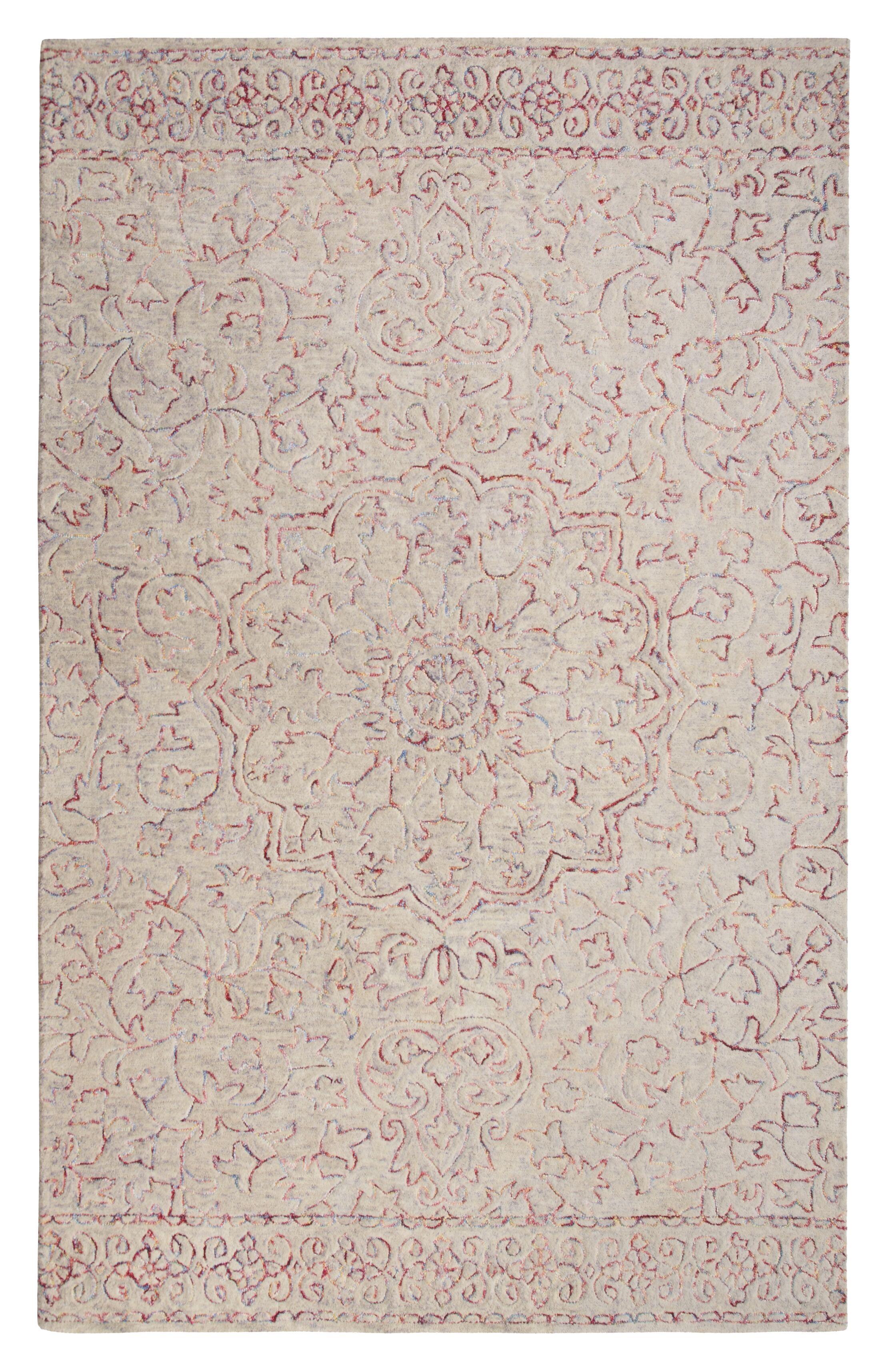 Gosnold Wheat/Carmine Area Rug Rug Size: Rectangle 7'6