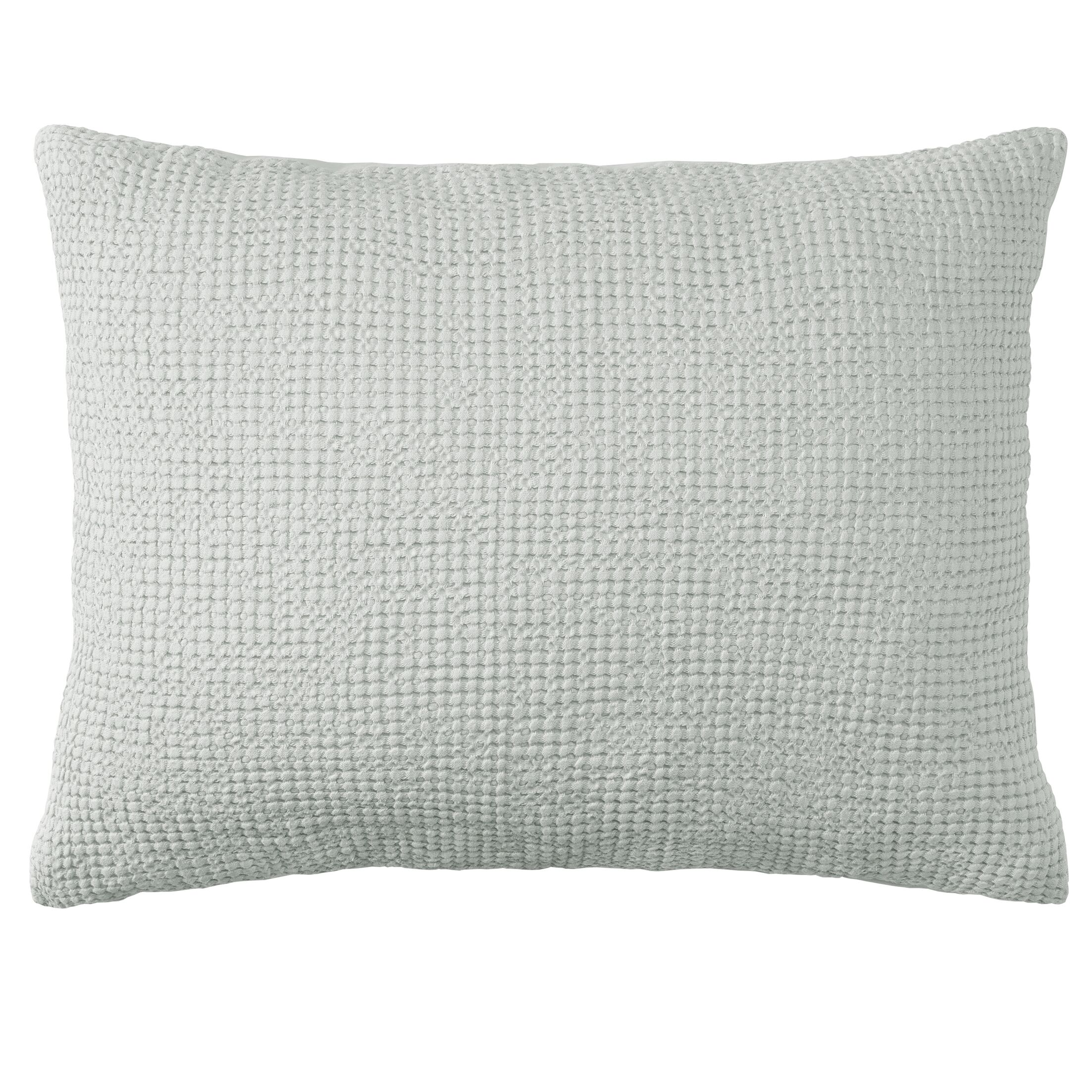 Waffle Weave Matelass� Quilted Sham Color: Pewter, Size: King