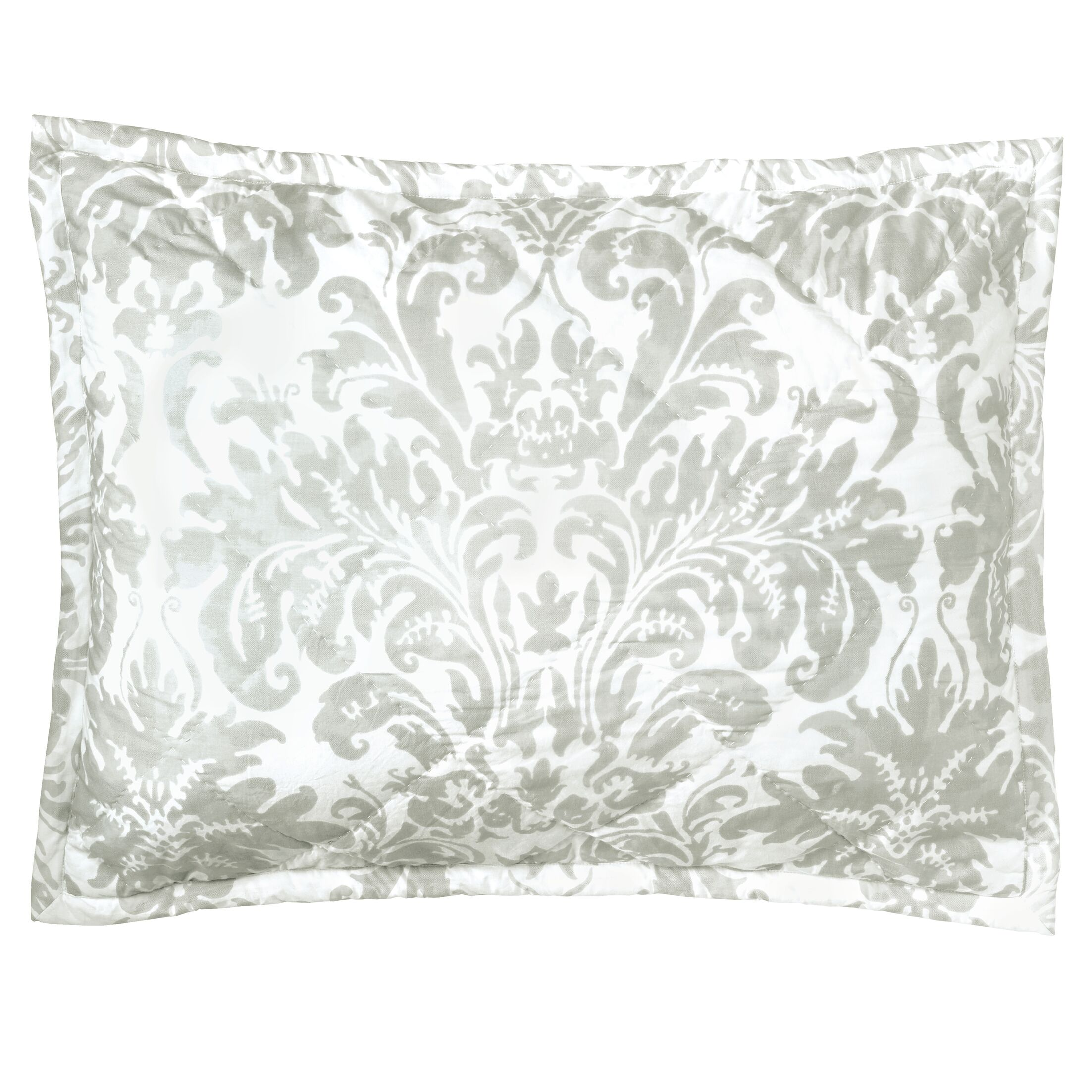 Kate Quilted Sham Color: Pewter, Size: King
