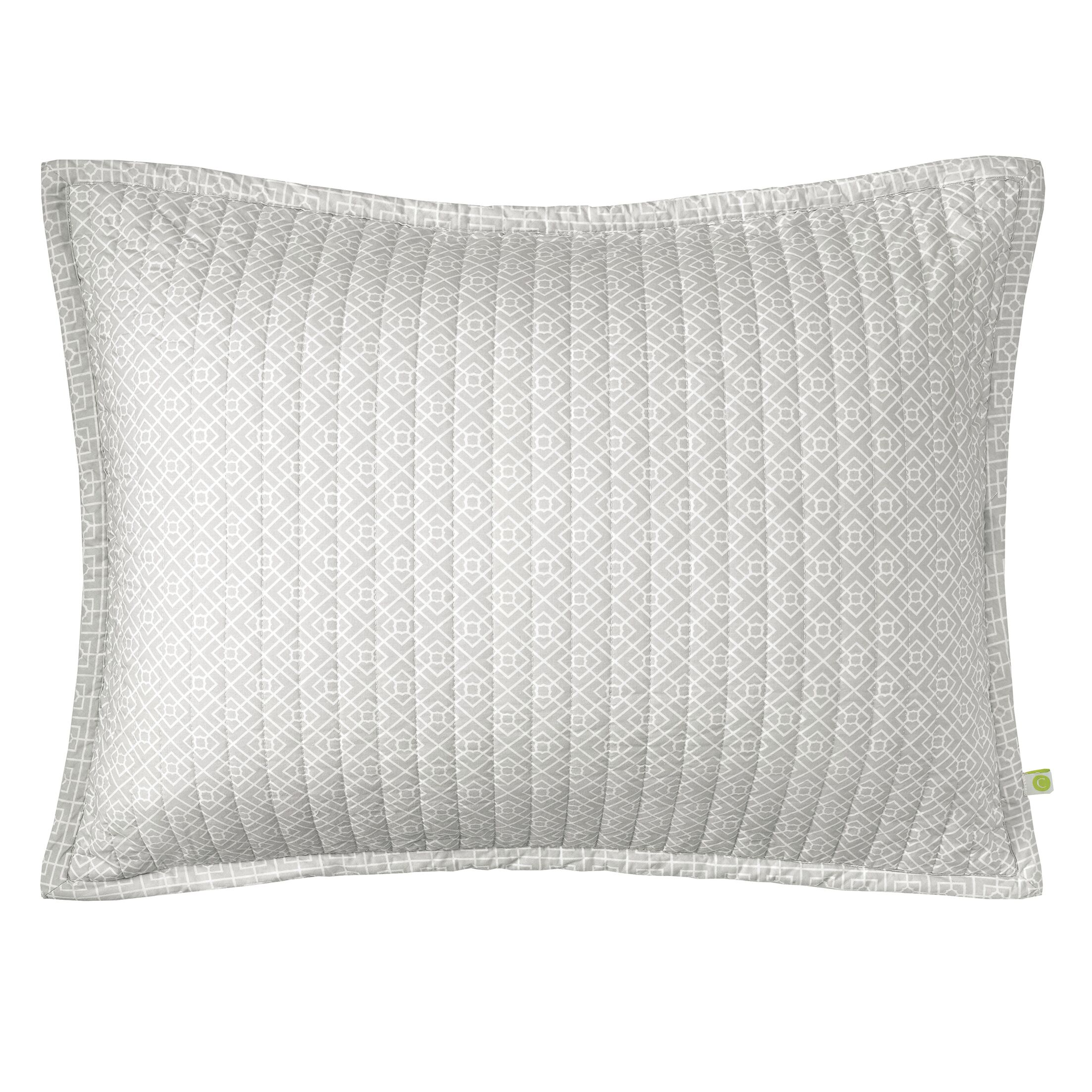 Diamond Lattice Quilted Sham Size: King, Color: Pewter