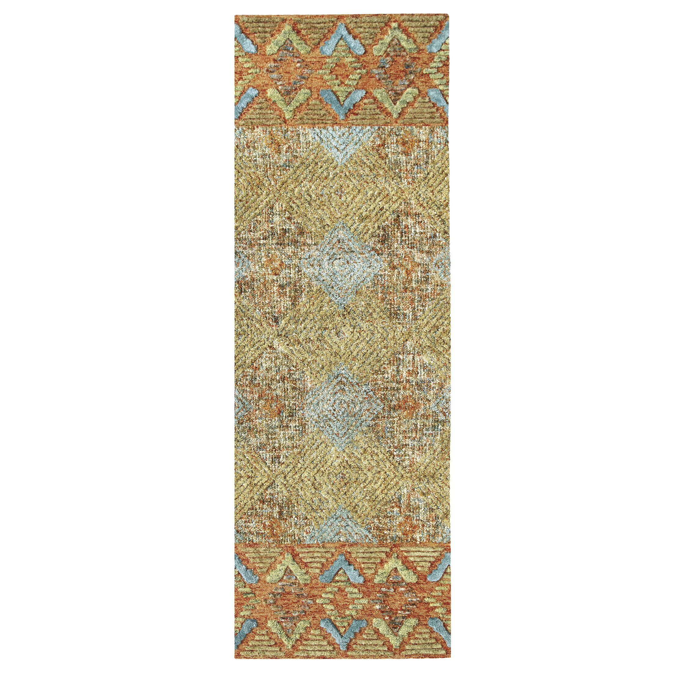 Canyon Hand-Tufted Wool Terracotta Area Rug Rug Size: Rectangle 2'6
