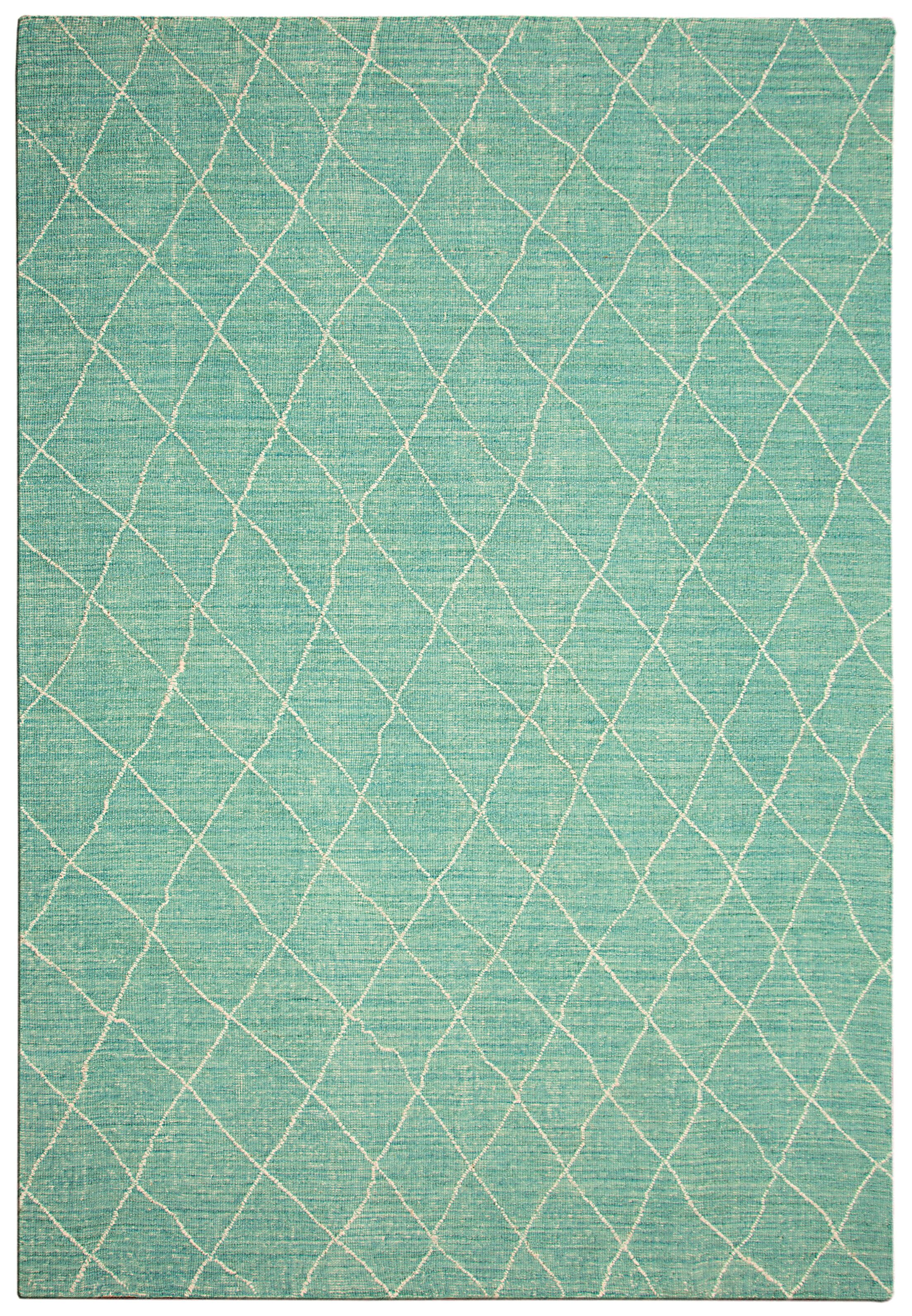 Kenza Hand-Woven Cotton/Wool Denim Blue Area Rug Rug Size: Rectangle 7'6