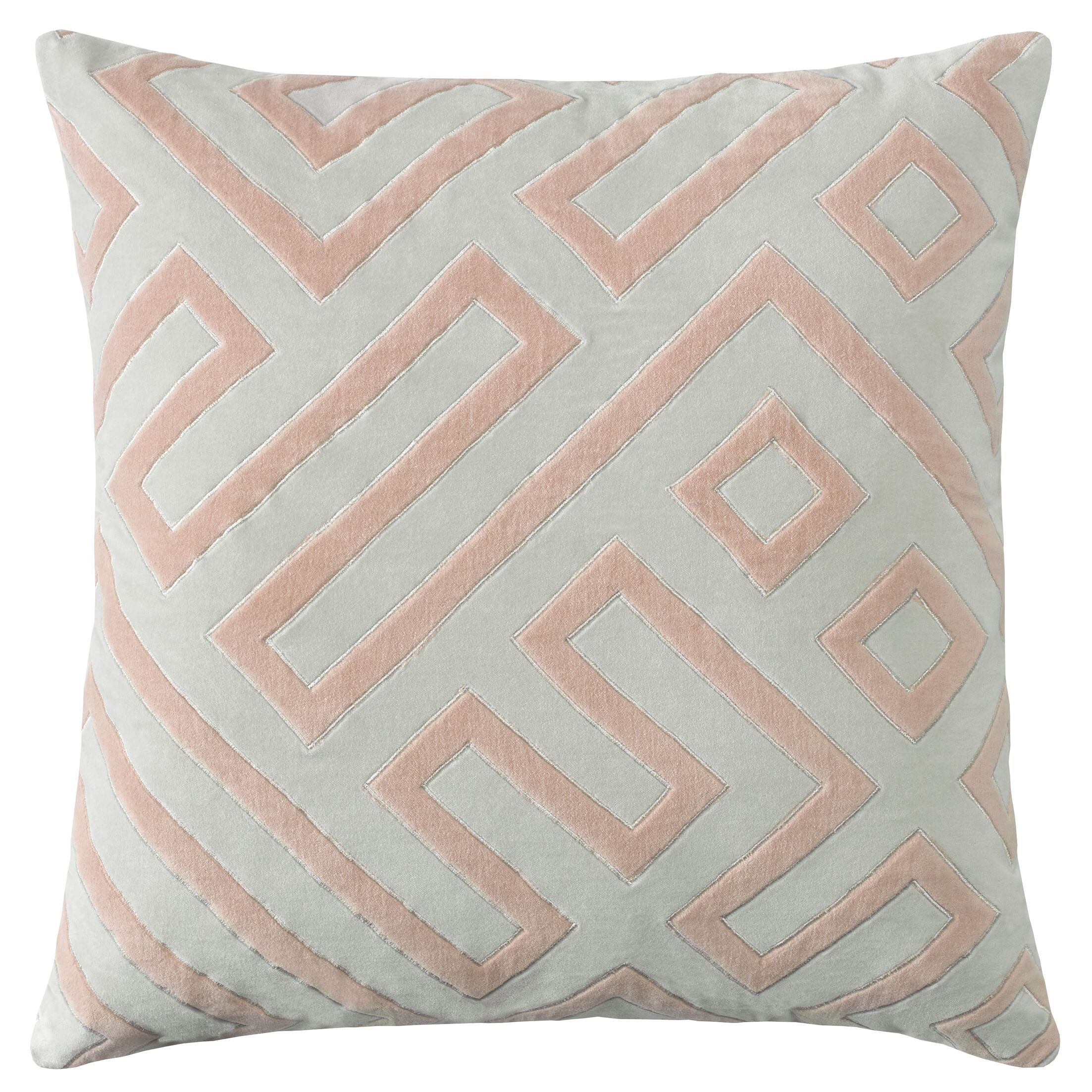 Maze Cotton Velvet Throw Pillow Color: Pewter