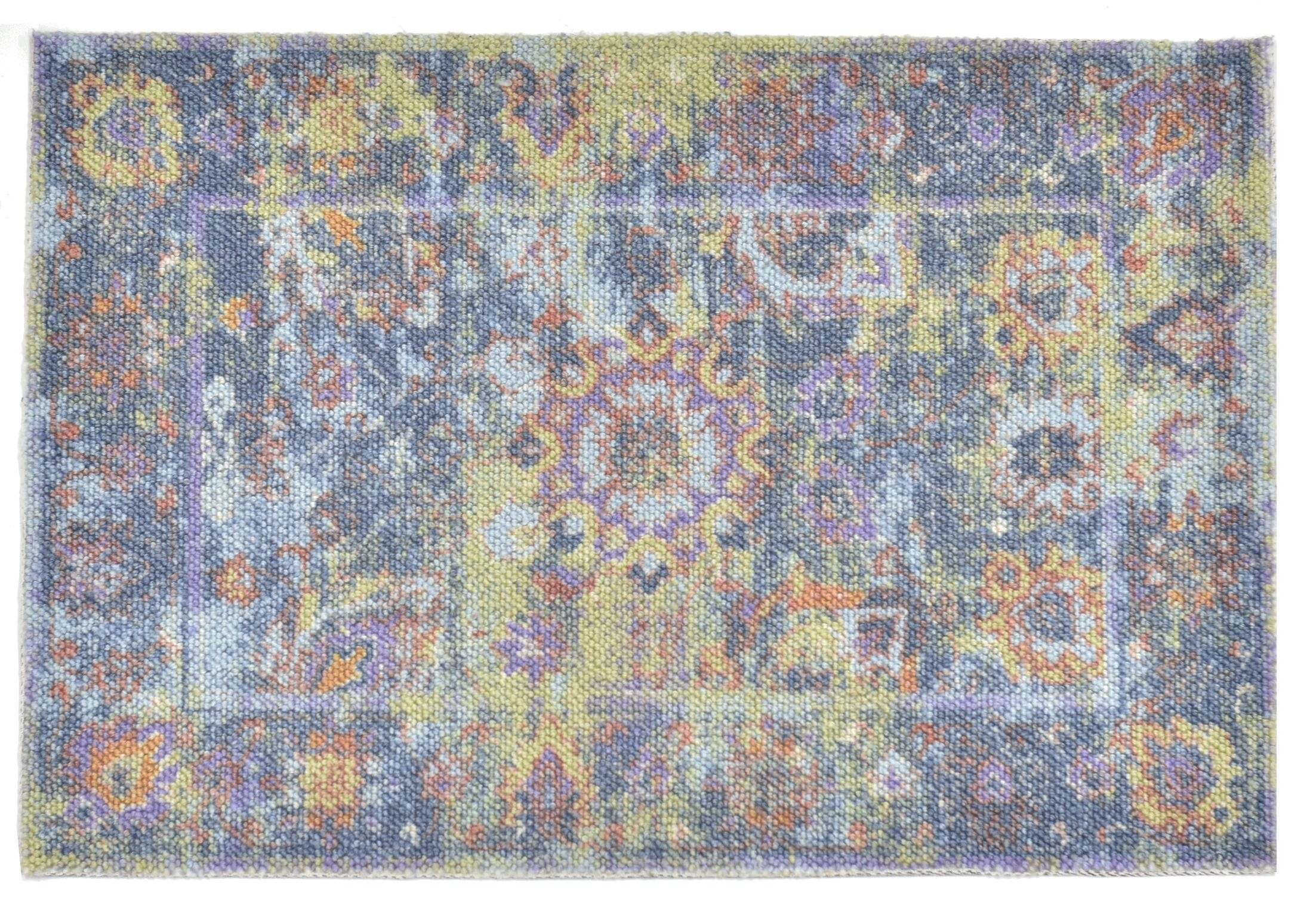 Pied-A-Terre Wool Blue Area Rug Rug Size: Rectangle 5'6