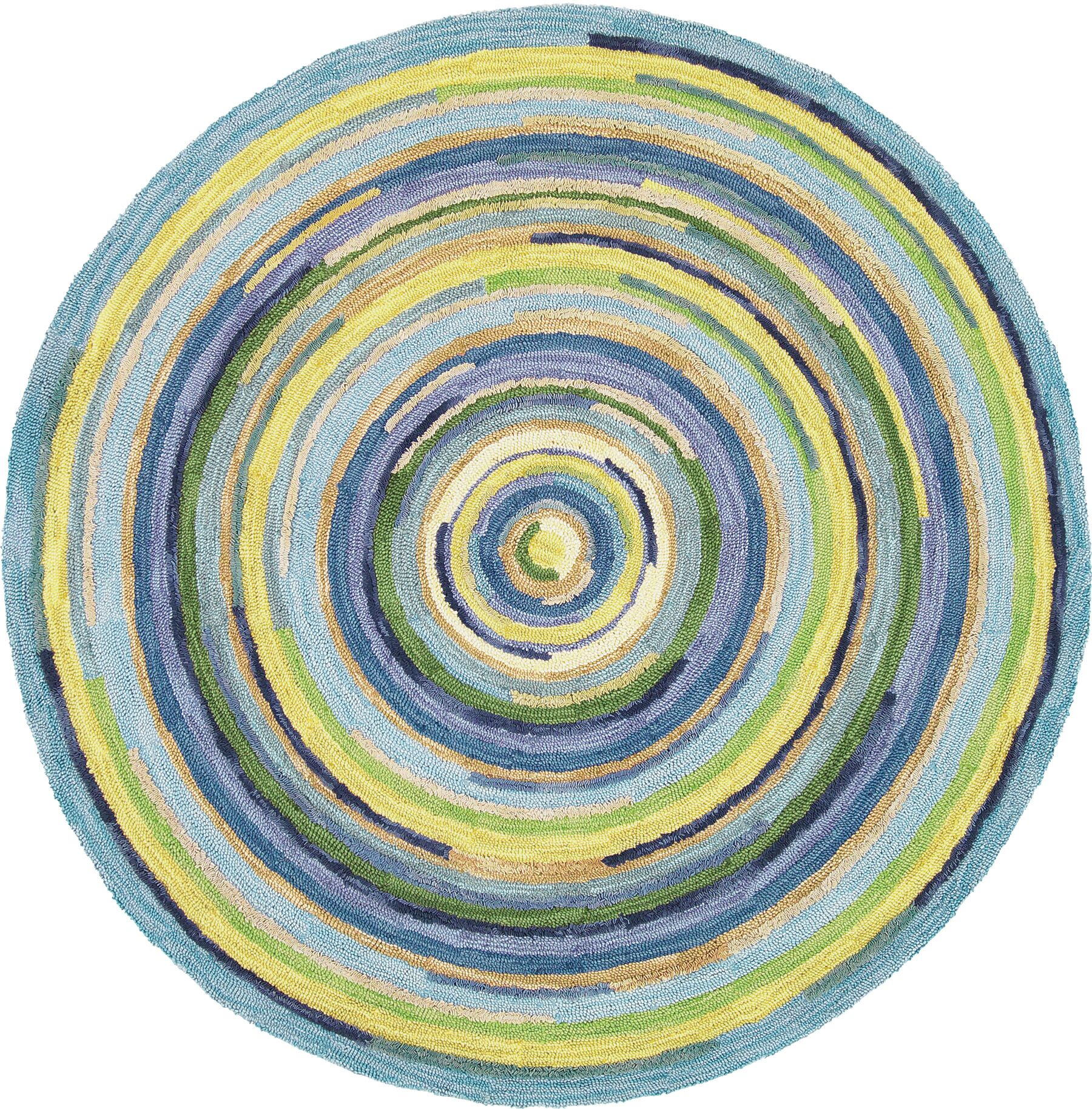 Concentric Sky Area Rug Rug Size: Round 7'