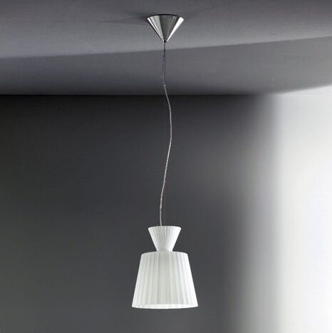Katerina 1-Light Mini Pendant Shade Color: Lime Green, Finish: White