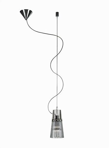 Kon 1-Light Mini Pendant Glass Color: Clear Crystal, Canopy Shape: Flat