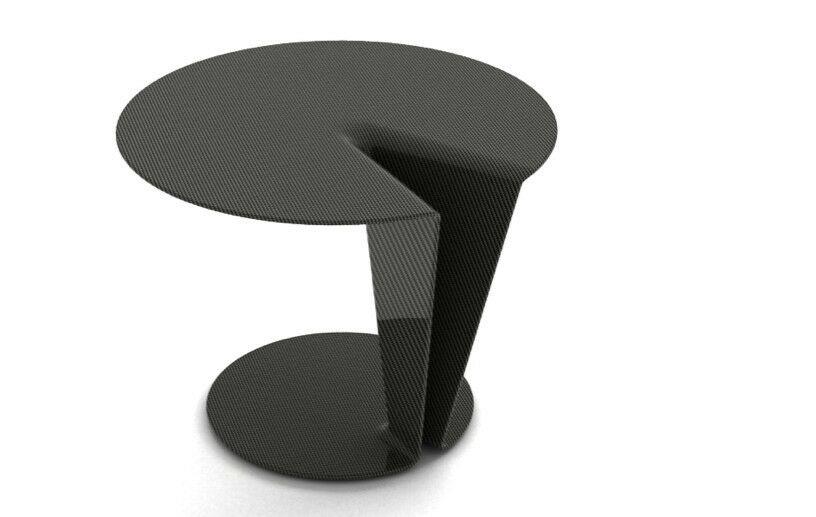 Carbon Orbit End Table Color: Carbon Fiber