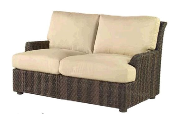 Aruba Loveseat with Cushions Fabric: Paris Blush