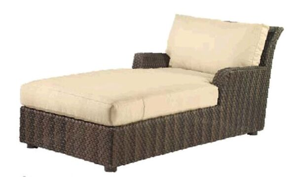 Aruba Chaise Lounge with Cushion Fabric Color: Canvas Navy