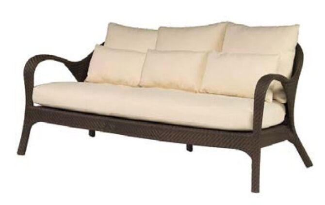 Bali Patio Sofa with Cushions Fabric: Brisa Distressed Dove Grey