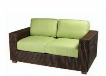 Montecito Loveseat with Cushions Fabric: Bamboo Natural