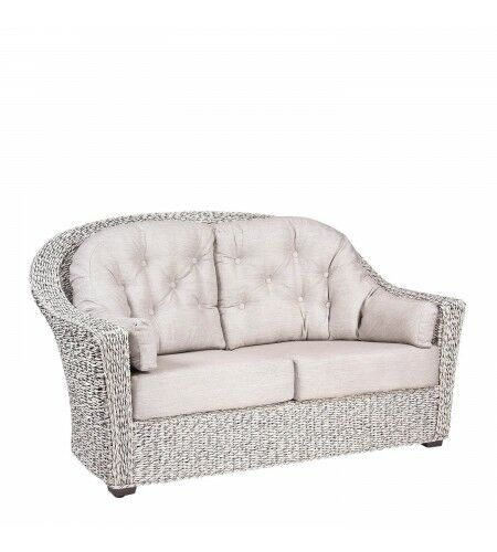 Isabella Loveseat With Cushion Fabric: Canvas Parrot