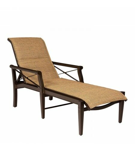 Andover Sling Reclining Chaise Lounge Color: Jet