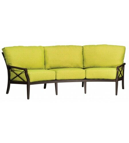 Andover Crescent Sofa with Cushions Fabric: Bazaar Cafe