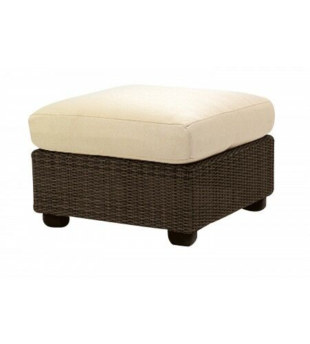 Montecito Ottoman with Cushion Fabric: Brisa Distressed Chamois