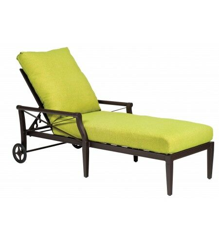 Andover Reclining Chaise Lounge with Cushion Color: Paris Honeydew