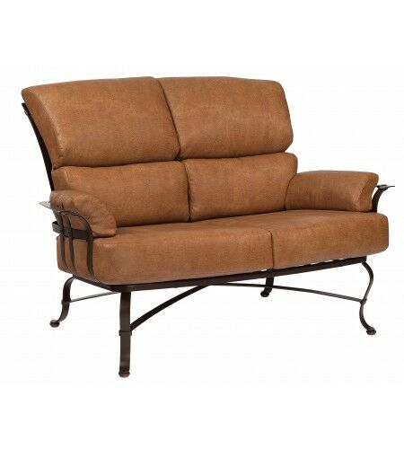 Atlas Loveseat with Cushions Fabric: Summit Peony