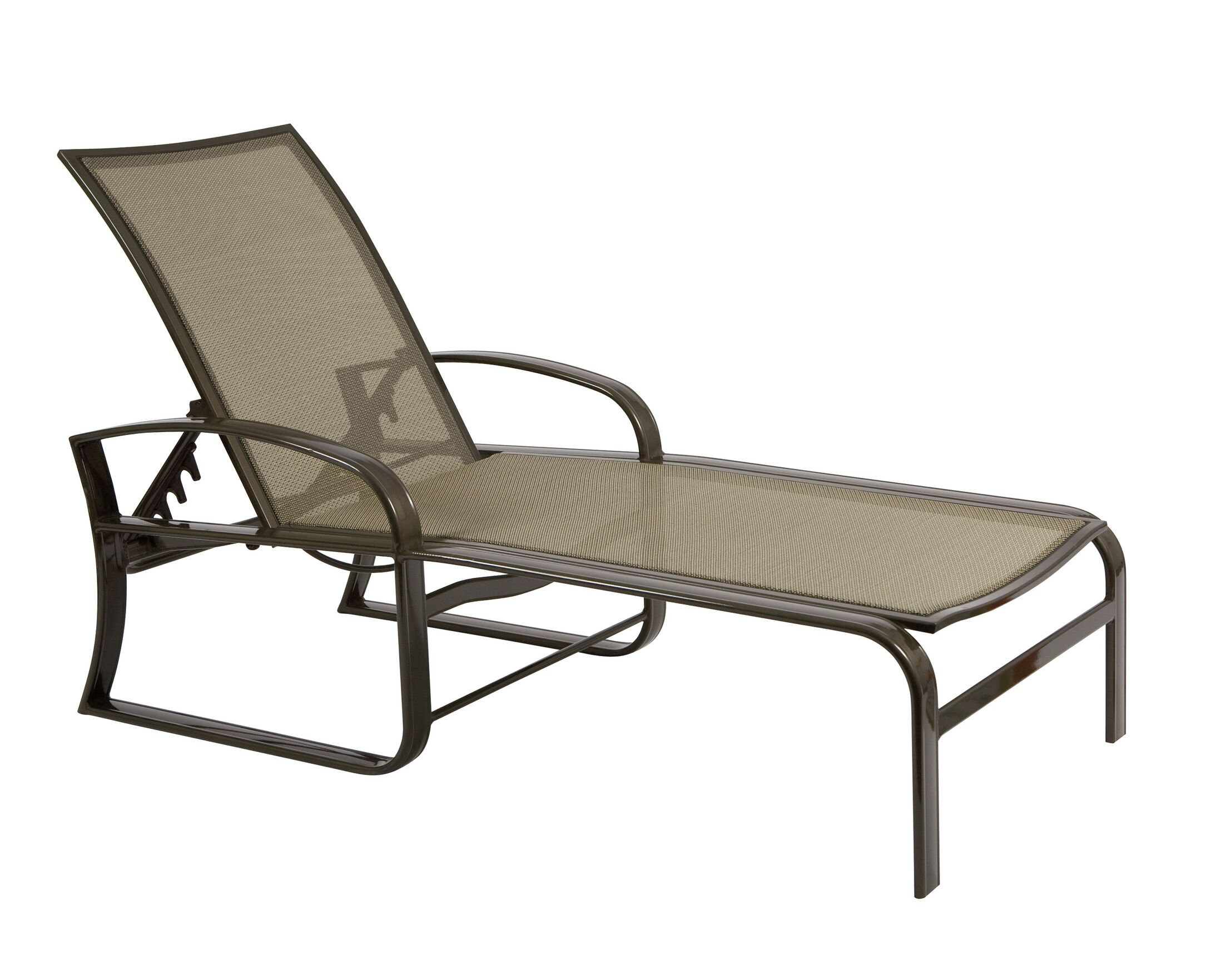 Cayman Isle Flex Reclining Chaise Lounge Color: Canvas Navy