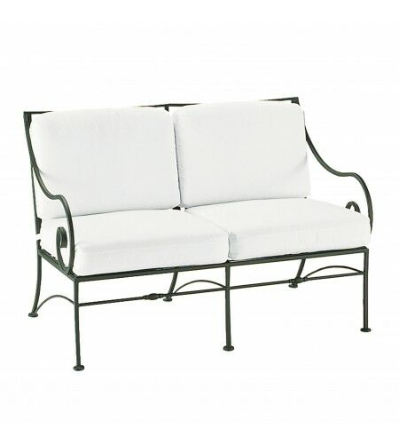Sheffield Loveseat with Cushions Fabric: Canvas Chestnut