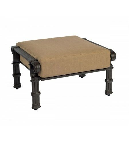 Spartan Ottoman with Cushion Fabric: Brisa Distressed Charcoal