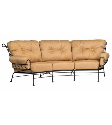 Terrace Crescent Sofa with Cushions Fabric: Brisa Distressed Charcoal