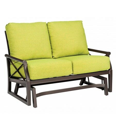 Andover Gliding Loveseat with Cushions Fabric: Paris Honeydew