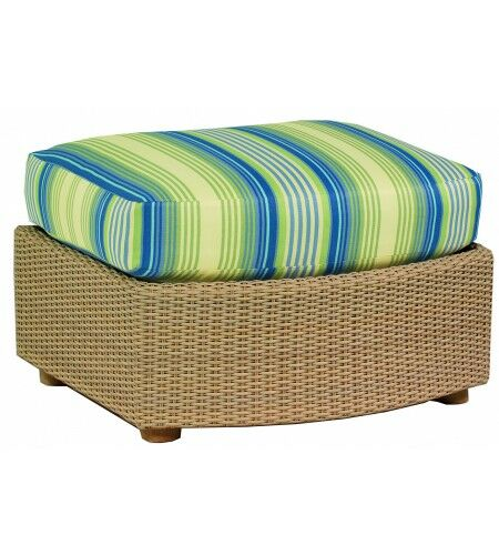 Oasis Ottoman with Cushion Fabric: Bazaar Cafe
