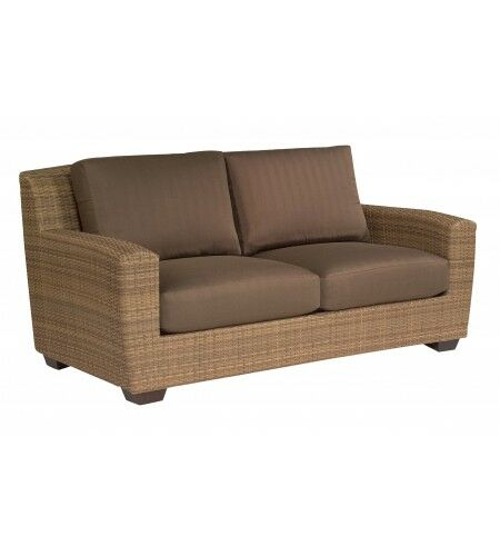 Saddleback Loveseat with Cushions Fabric: Bazaar Cafe