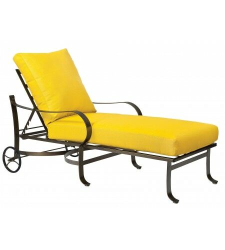 Cascade Reclining Chaise Lounge with Cushion Color: Bazaar Cafe