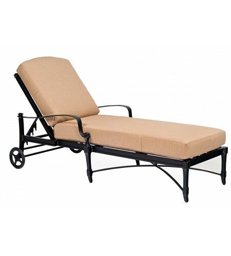 Isla Reclining Chaise Lounge with Cushion Color: Canvas Navy