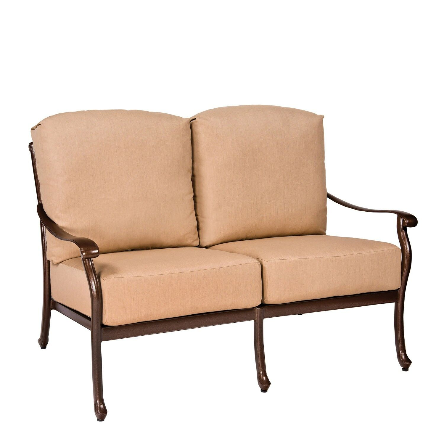Casa Loveseat with Cushions Fabric: Canvas Chestnut