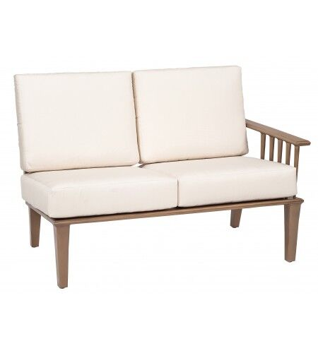 Van Dyke Right Arm Facing Loveseat Sectional Piece with Cushions Fabric: Canvas Bird's Eye