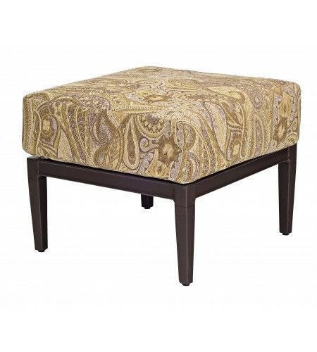 Andover Ottoman with Cushion Fabric: Brisa Distressed Dove Gray