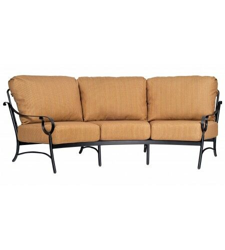 Ridgecrest Crescent Sofa with Cushions Cushion Color: Sharkskin