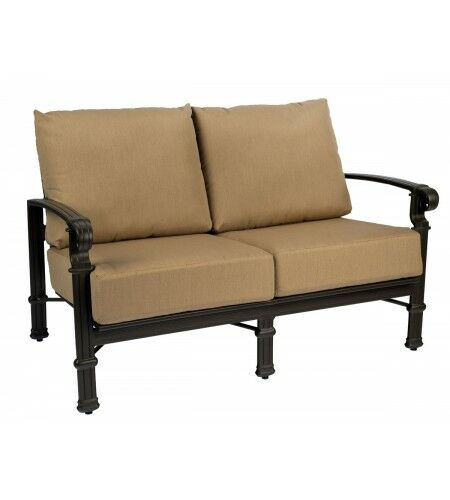 Spartan Loveseat with Cushions Fabric: Brisa Distressed Chamois