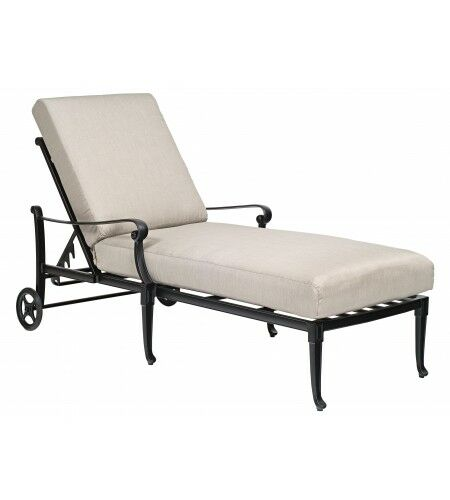Wiltshire Reclining Chaise Lounge with Cushion Color: Canvas Heather Beige