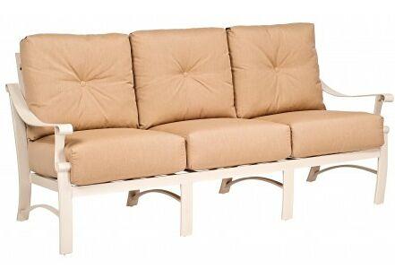 Bungalow Sofa with Cushions Fabric: Paris Honeydew