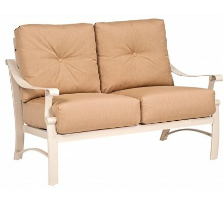 Bungalow Loveseat with Cushions Fabric: Canvas Parrot