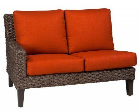 Mona Left Arm Facing Loveseat Sectional Piece with Cushions Fabric: Canvas Bird's Eye