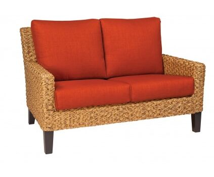 Mona Loveseat with Cushions Fabric: Canvas Parrot